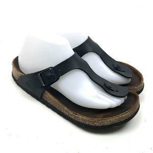 Birkenstock Black Women's Thong Toe Sz 38 US 7